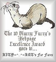 The Ten Blurry Furry's Award Site